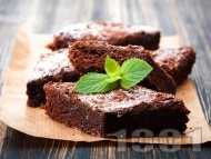 Рецепта Лесен и вкусен шоколадов сладкиш брауни класически оригинален десерт с шоколад